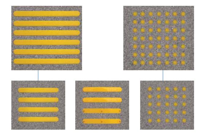 CTPcam takviyeli polyamidden dan imal hissedilebilir yüzey çeşitlerimiz